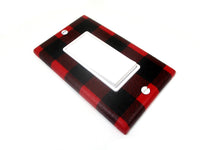 Decora Dimmer Rustic Buffalo Plaid Light Switch Cover Plate