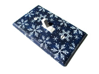 Winter Home Decor Blue Snowflakes Light Switch Cover Plate