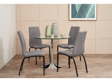Load image into Gallery viewer, BECKY Dining Table and Asama Chairs Fabric x 4