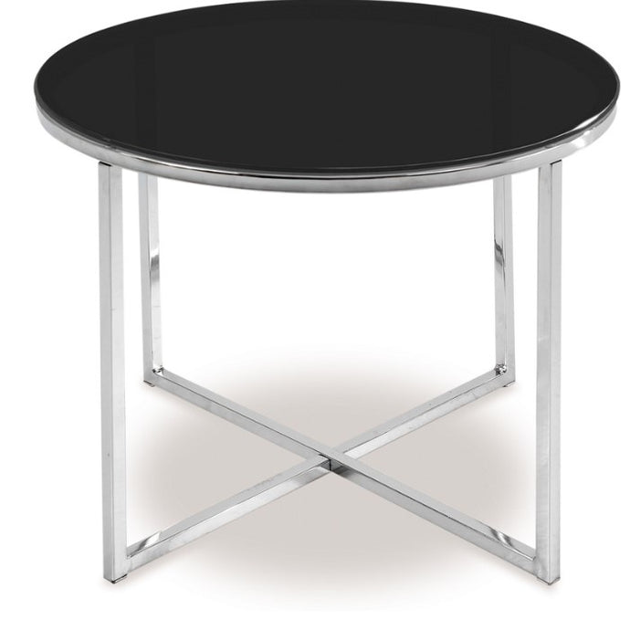 CROSS Side Table - Black Glass