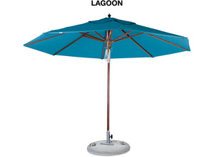 EDEN Outdoor Umbrella 3.5m - 8 Colours to Suit