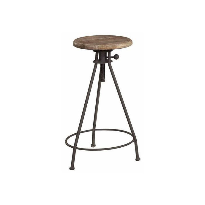 ELMWOOD Elm and Iron Barstool