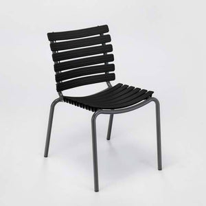 CLIPS Outdoor Dining Chair Without Armrest - Grey Frame  (Stackable)