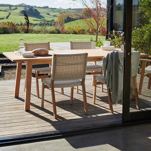 ST CLAIR Dining Suite 2200 Rectangle - Teak - Devon Lifestyle