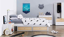 Load image into Gallery viewer, COSMO Slatframe Bed with Storage Headboard - Single or King Single