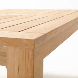 COUPER Dining Table 1000 Square - Teak - Devon Lifestyle