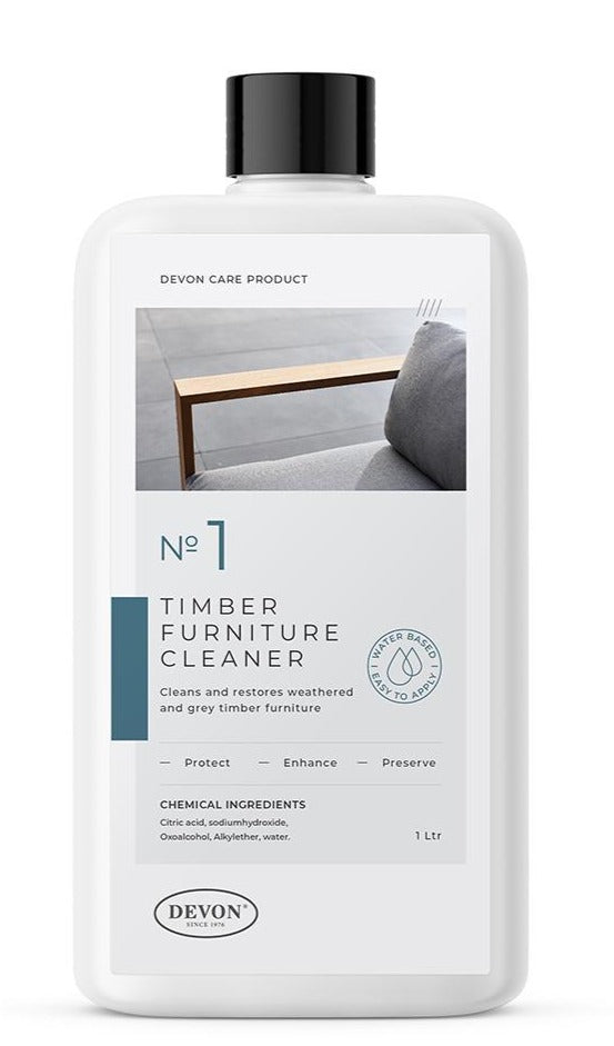 Devon Care - TEAK FURNITURE CLEANER - 1 Litre
