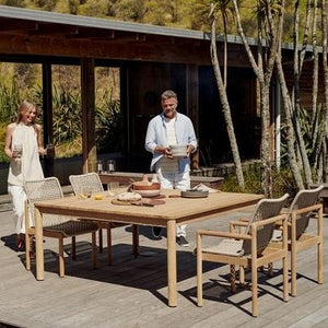 OPITO Dining Table 1600 Square plus Opito Carver Chairs - Devon Lifestyle