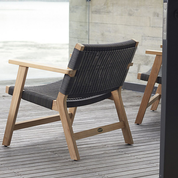 JACKSON Easy Chairs and Omaha Side Table - Teak - Devon Lifestyle