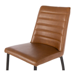 HANSEL Dining Chair  - Cognac PU