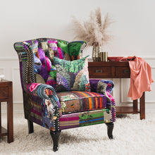Load image into Gallery viewer, PATCHWORK Wingback Chair