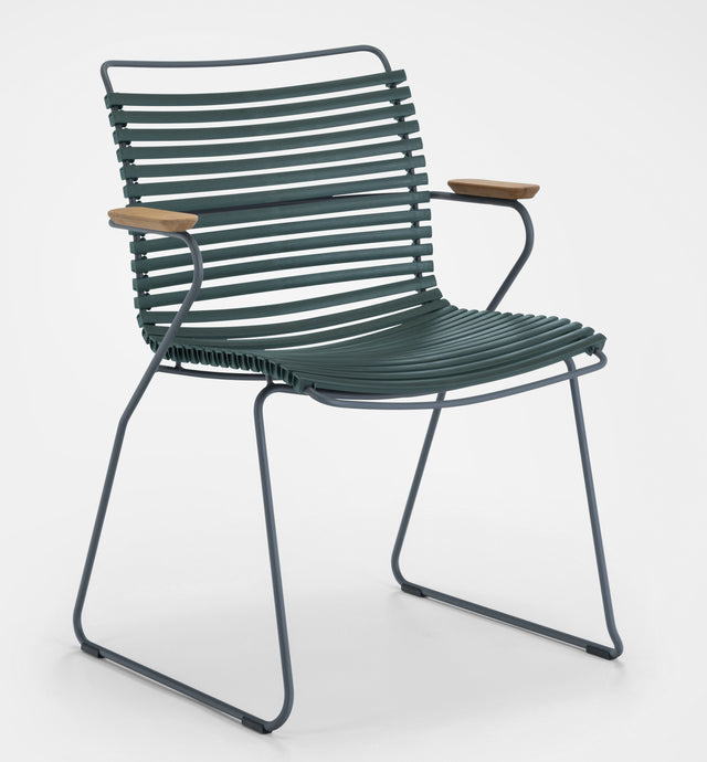 CLICK Outdoor Dining Chair with Armrests - Lots of Colours to Suit