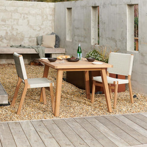 JACKSON Side Dining Chairs and Porter Dining Table 1000sq - Teak - Devon Lifestyle