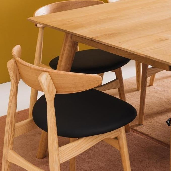 NORDIK Dining Table Extension - Medium 1600w Extends to 2100w plus Kaiwaka Dining Chairs