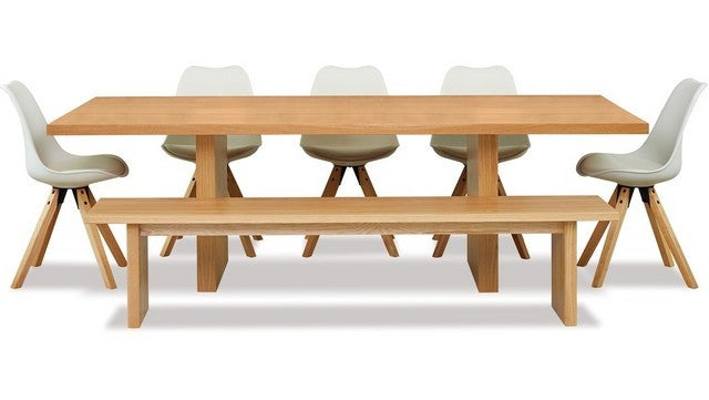YOKO Dining Table - Bench Seat and 5 x Dima chairs