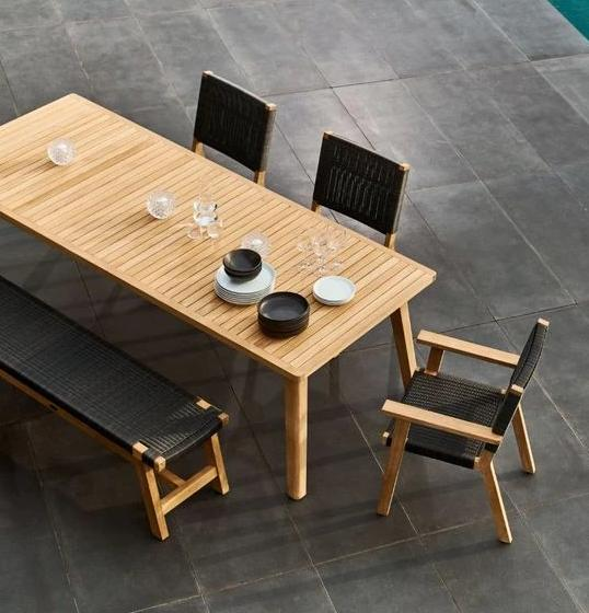 PORTER Dining Suite 2400w Rectangle - Teak - Devon Lifestyle