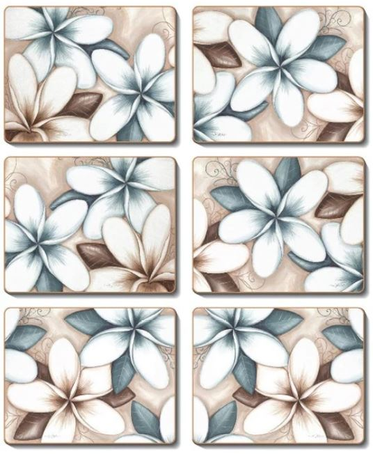 OCEAN FRANGIPANI Coasters or Placemats