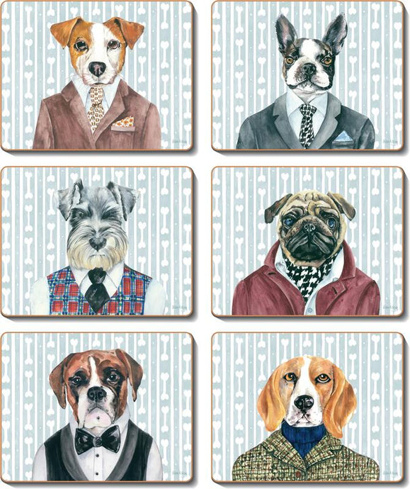DOGS DINNER Coasters or Placemats