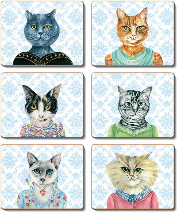 LADY CAT LUNCHEON Coasters or Placemats