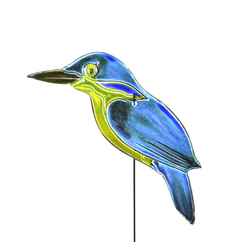 Garden Art Stand - Kingfisher