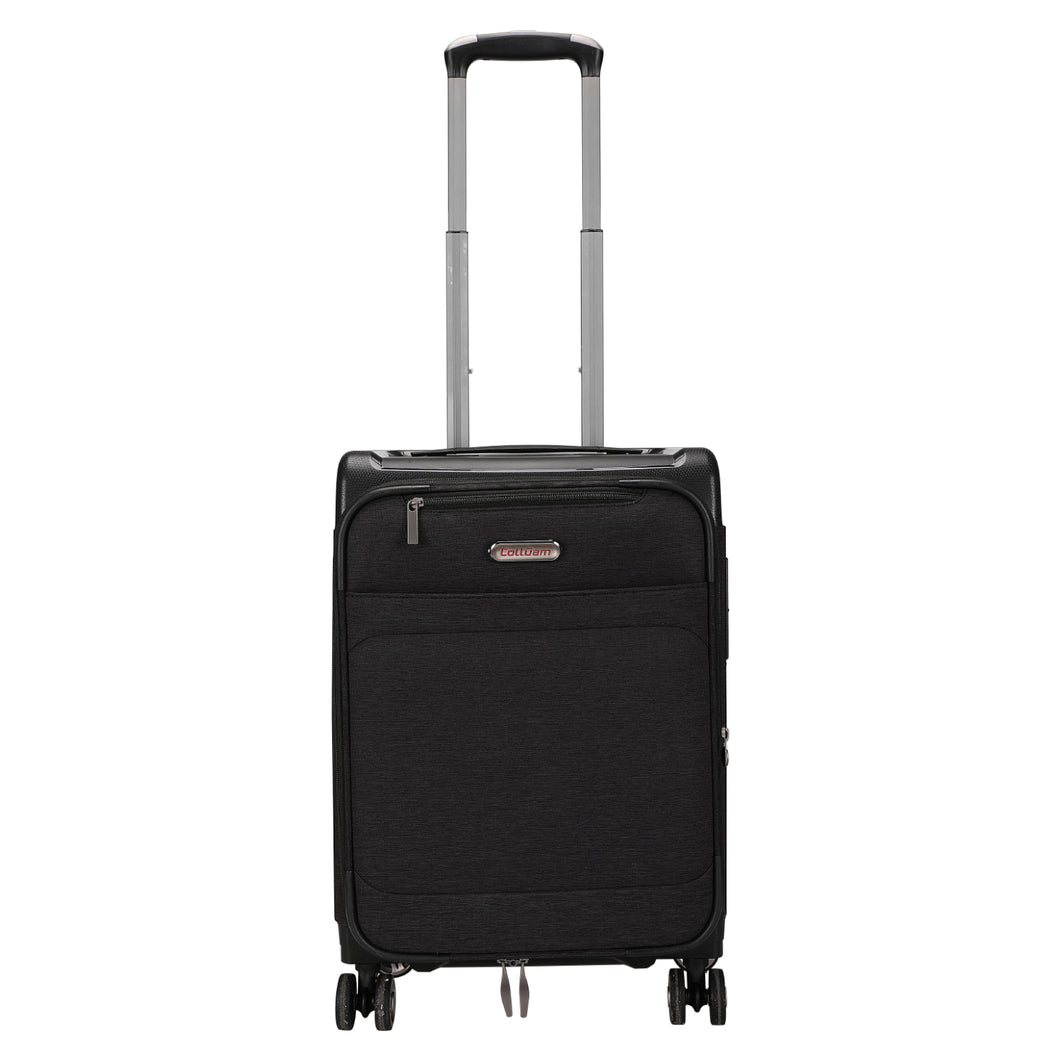 Colloam Expandable Spinner Wheel Luggage, Black