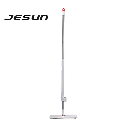 JESUN Professional Microfiber Dust Mop, Stainless Steel Handle, Washable Pad