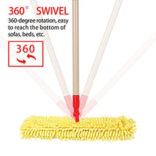 Load image into Gallery viewer, CLEANHOME Microfiber Flip Mop for Tile Floor with 2 Washable Mop Pads-Professional Hardwood Floor Dust Mop-360 Dry and Wet Cleaning Mopping,Yellow
