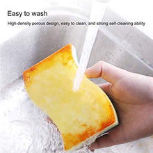 Load image into Gallery viewer, CLEANHOME Household Eraser Sponge Sheets Magic Scouring Pad Non Scratch Home Kitchen Multi-Function Dish,pan Cleaner Yellow-Green-12 Pack
