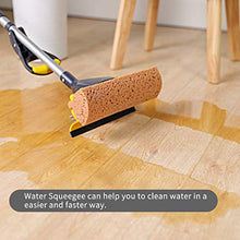 Load image into Gallery viewer, AKOMA Sponge Mop Home Commercial Use Tile Floor Bathroom Garage Cleaning with Squeegee and Extendable Telescopic Long Handle 41-53 Inches Easily Dry Wringing