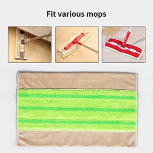 CLEANHOME Washable Mop Pad 5 Pack,Reusable Microfiber Flat Mop Replacement Head,Fit For Wooden Floor,Tile Remove Pet Hairs