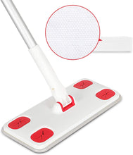 Load image into Gallery viewer, CLEANHOME Disposable Dust Mop with 30 Dry Refill Pads,Professional Hardwood Floor Cleaner Mopping,Red