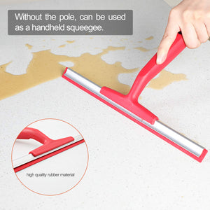 CLEANHOME Glass Window Squeegee with Extension Pole,54in Professional Scrubber Telescopic with 3 Sizes Replacement Blades,Cleaning for Car,Shower Doors, Bathroom, High Window