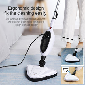 Boomjoy Electric Steam Mops Cleaner for Tile and Hardwood Home Use Floor Steamer for Cleaning Carpet and Floor with Convenient Detachable Handle Child & Pet Friendly
