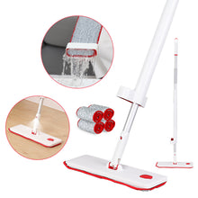 "Load image into Gallery viewer, Boomjoy  Microfiber Flat Mop with Bucket, Cleaning Squeeze Hand Free Floor Mop, 2 Reusable Mop Pads, 13"" Widen Head Pad, 50"" Stainless Steel Handle"