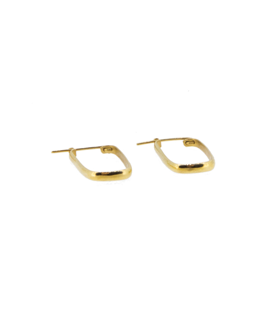 Rectangular Hoop Earrings Gold