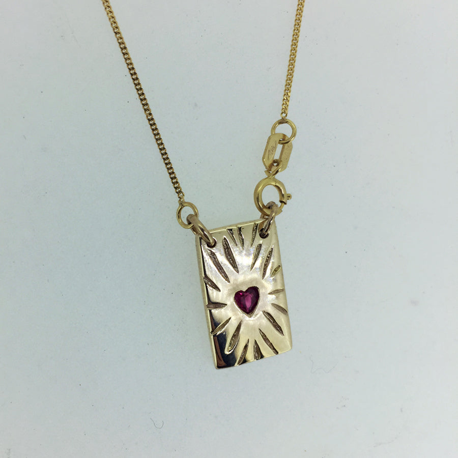 Ruby Rays Talisman Necklace Gold