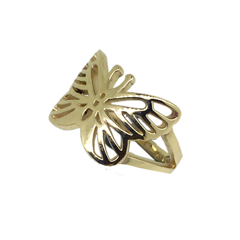 Butterfly Ring Gold - Serpent & the Swan