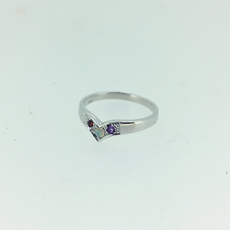 Personalised Wishbone Ring
