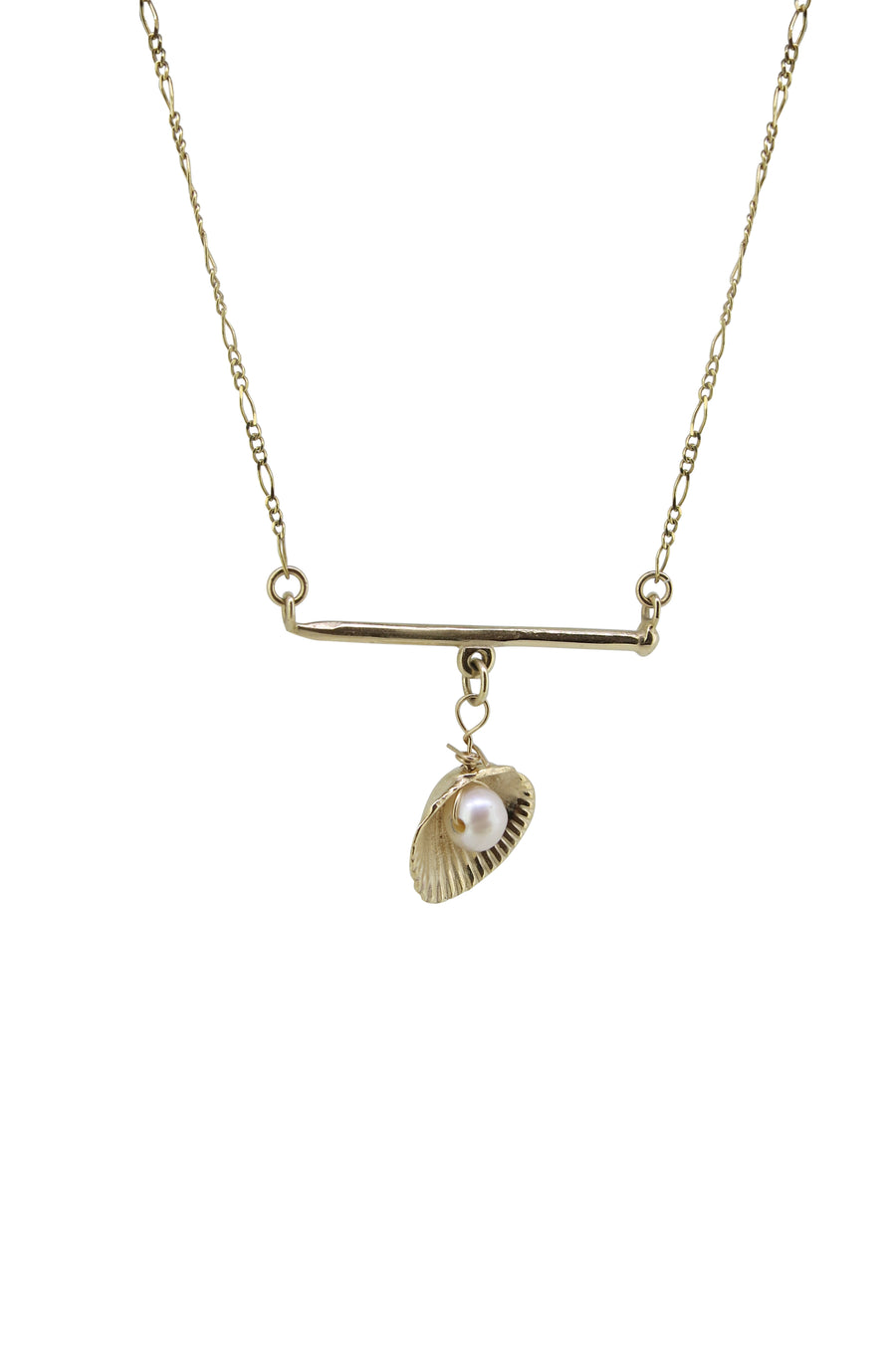 Charmed Bar Necklace Gold