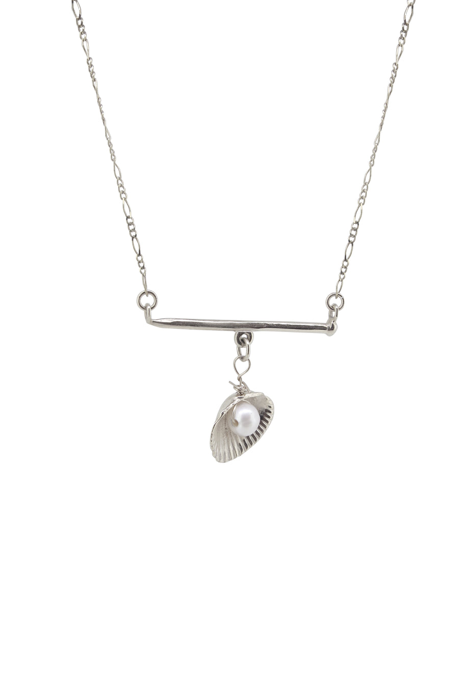 Charmed Bar Necklace Silver