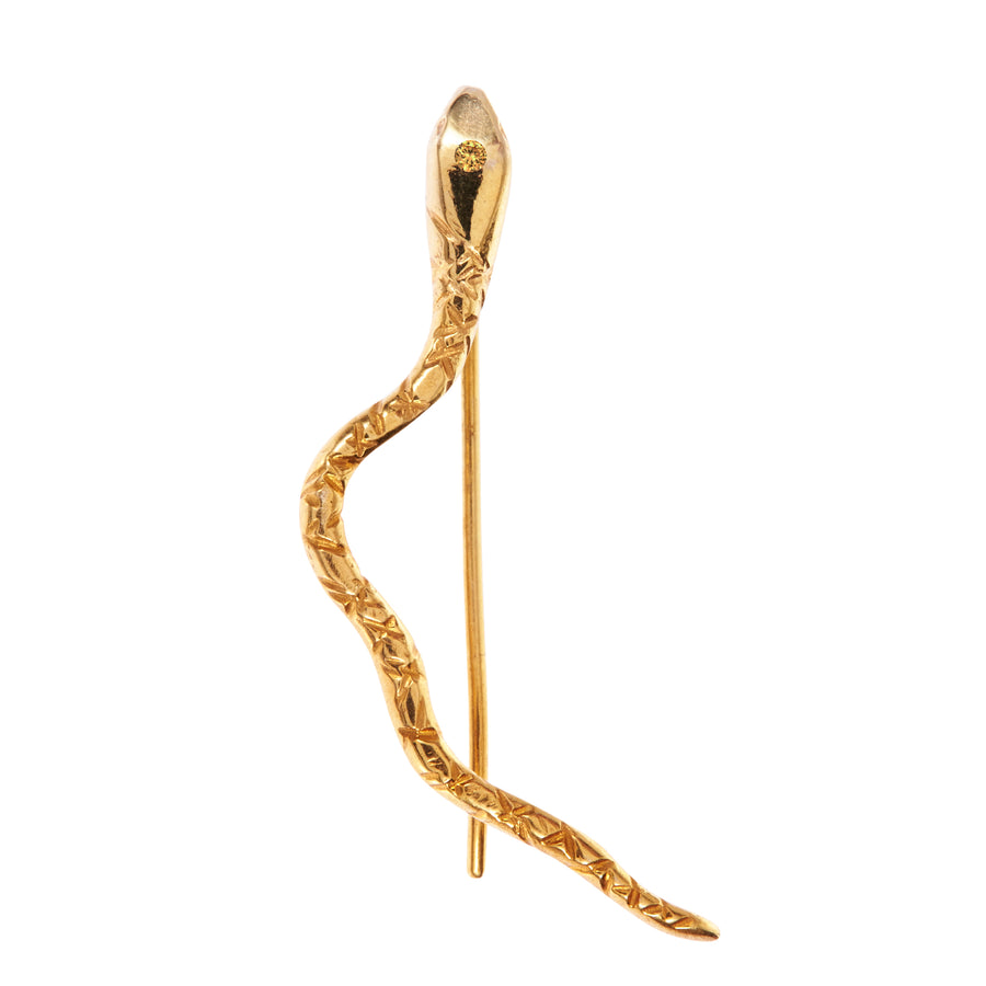 Personalised Serpent Ear Climber Gold