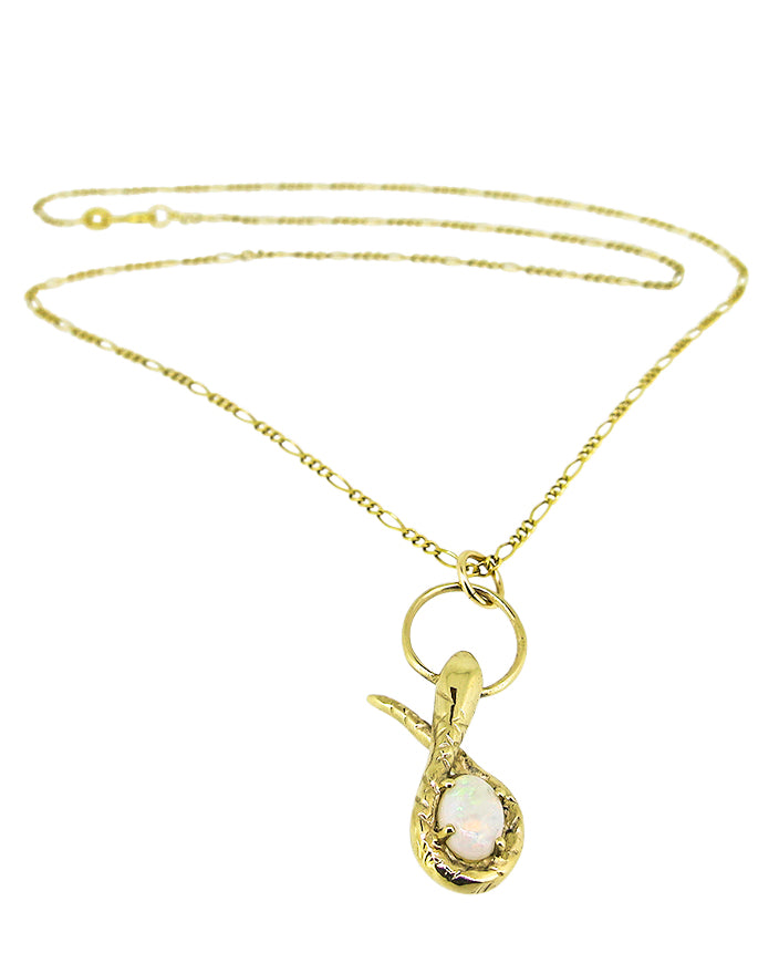 Serpent Opal Necklace Solid Gold