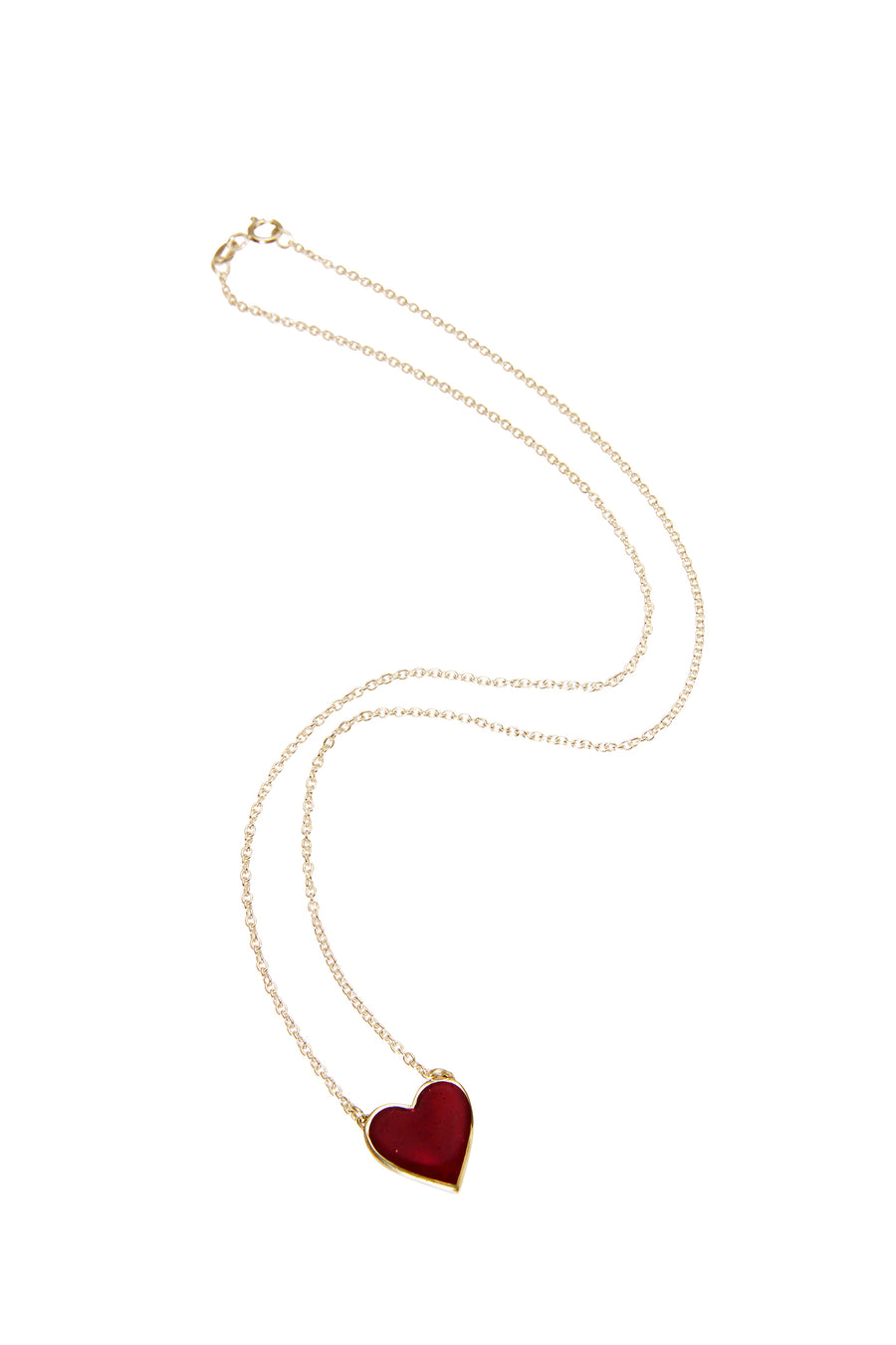 Bleeding Heart Necklace Gold