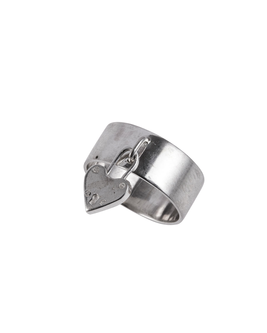 Lock My Heart Ring Silver