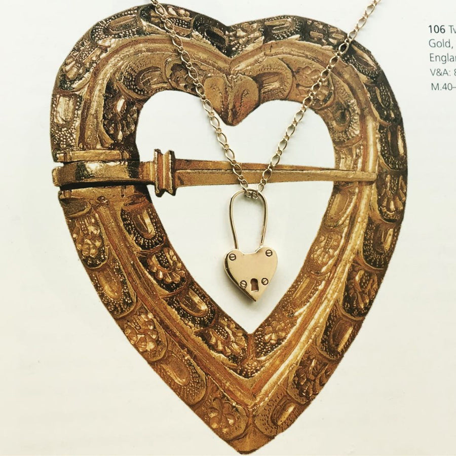 Heart Locket Necklace Gold - Serpent & the Swan