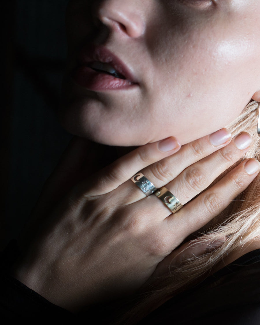 Starry Nights Ring Silver - Serpent & the Swan