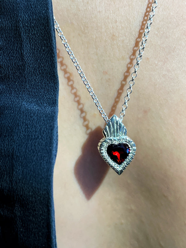 Burn My Heart pendent SILVER