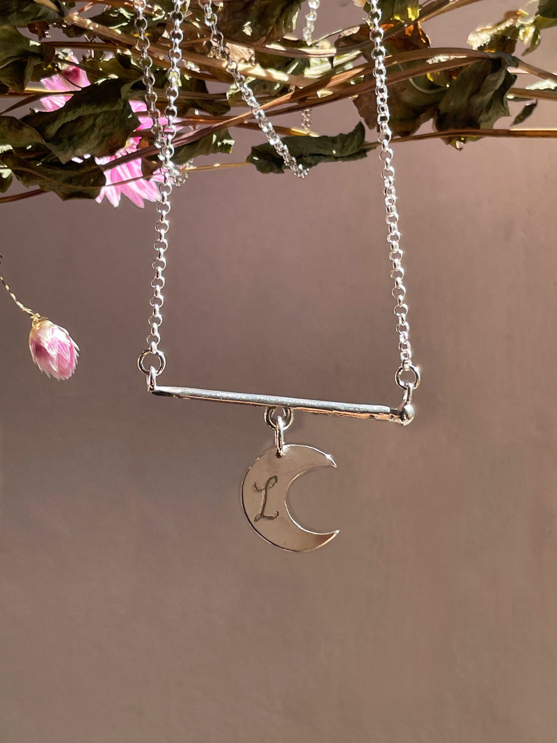 My Heart, My Star, My Moon, Charmed Bar Necklace