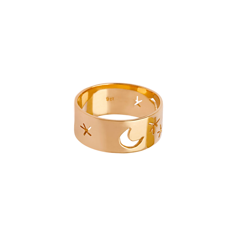 Starry Nights Ring Gold - Serpent & the Swan