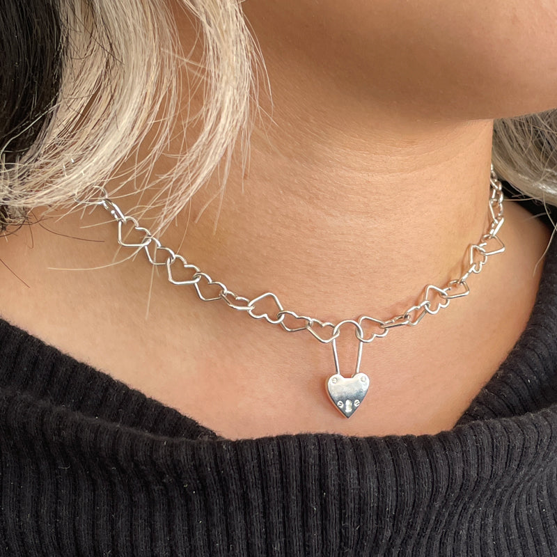 Heart Attack Padlock Choker - Limited Edition